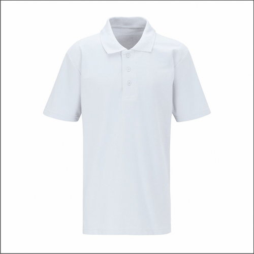 White Polo Shirt - Blue Max Banner